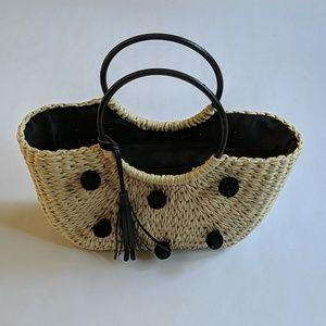 Modcloth straw pom pom bag with tassel